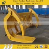 High Quality Wheel Loader Grapple Fork, Skid Steer Load Attachment Wood Grapple Fork, Wood grapple log grapple