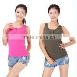 Ladies Women Girl's Mini Sleeveless Button sport T-Shirt Tank Tops Cami Waistcoat Vest