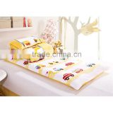 Baby and kindergarten 100% cotton quilt 3 pieces bedding sets yellow cars