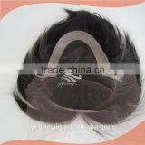 Alibaba Express human hair 6 inch brown color lace toupee for men