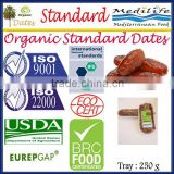 "Organic Standard Dates ""Deglet Noor"" Category, Standard Organic Dates, Healthy Fruit , Organic Standard Dates 250g Tray"