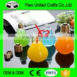 450ml light lamp bulb drink beverage glass juice bottles,ball jar with golden caps