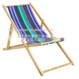 Striped fabrics for foldable wooden canvas deck chair