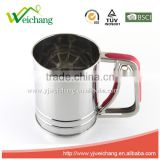 WCTS069Cooking Classic Stainless Steel Flour Sifter,single Mesh Screen One-handed Stainless Steel Flour,High quality.