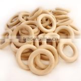 unfinished natural wooden teething rings