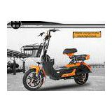 Electric Motor Scooter 3-speed Hydraulic Front Fork With Alarm LED Headlight 350W 14 Inch wheel E-bi