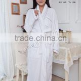 100% cotton embroidery piping terry velour bathrobe bath robe