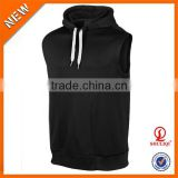 Autumn Fashion Design 95%Cotton 5%Polyester Pullover Hoodie Men Wholesale Sleeveless Hoodie