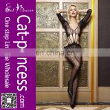 Fast shipping transparent long sleeve women nude bodystocking