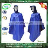 100% waterproof polyester PVC coated rain coat with hood