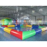 Latest inflatable pool , heat sealed largest sacco inflatable pool, outdoor colorful pool for adult