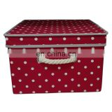 Hot Sales New Red storage boxes fabric covered storage boxes with lids