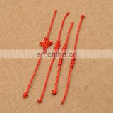 Chinese Knot Red Thread String Bracelet cheap red cotton friendship bracelets