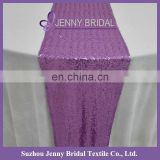 SQN#21 Jenny Bridal Purple Wedding Sequin Table Runner