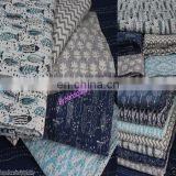 Kantha Quilt Indian Block Print Kantha Throw Handmade Blanket Wholesale Lot 5 pc
