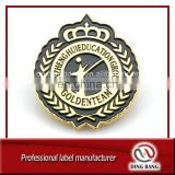 Hot Selling OEM Accepted Butterfly Button Type And Color Filled Gold Casted Embossed Logo Souvenir Custom Made Badge