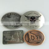 Zinc alloy casting metal belt buckle custom design reversible belt bukle