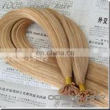 Drouble drawn high quality keratin tip human hair 8-30inch U I V tip hair /micro ring hair pre bonded hair extension