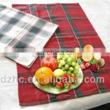 Christmas red green check placemat