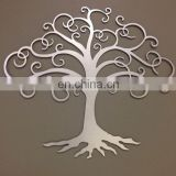 Abstract Laser Cut Metal Decorative hanging wall Art  tree Sculpture