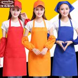 Work sleeves wear-resistant anti-fouling sleeves with apron sleeve head sleeves