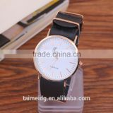 2016 quartz dw style fashion watch nato leather strap very slim