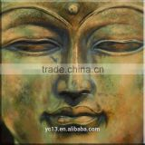 oil painting on canvas decoration green buddha hand painted
