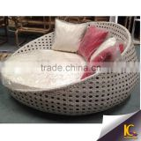 Single use outside item outdoor round rattan daybed with waterproof cushion