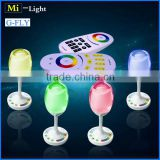 milight wifi hue 2w rgbw cup wine glass light ,wedding led cocktail bar tables events light lamp