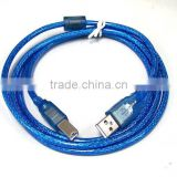 Blue 1.5m 5Ft USB 2.0 USB Print Cable A Male to B Male Printer Cord Wire Cable