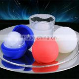 Custom Wholesale New FDA approved food grade sphere silicone ice cube tray whiskey ice ball maker