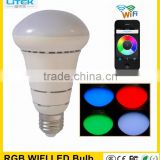 Super Hot Design 7w Rgb Led Bulb E27 wifi bulb light 7w Wifi Led Smart Bulb China