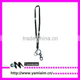 Crystal lanyard neck strap with keychain
