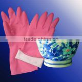 cleaning usage rubber gloves, rubber household gloves for kitchen, high quality rubber gloves
