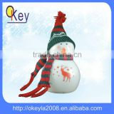 2016 new decoration supplies china led glass color change snowman for indoor christmas decoration