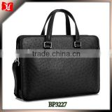 Hot sell 2014 ostrich leather men's office bag