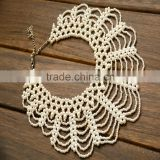 New luxury wholesale fashion statements exaggerate beaded pearl necklace jewelry for india