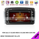 double dins 7inch iwish Android 4.0 car stereo for BENZ C CLASS W203(2000-2005) ,G CLASS W46 (2001-2012)