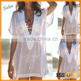 funny thin transparent white women swimming wear bikini dress beachwear                                                                                                         Supplier's Choice