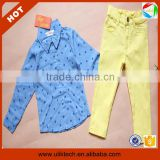 Hot!Fashion long sleeve shirt+ pant korean children's wear in autumn (Ulik-A0343)