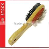 bamboo dog brush double sides cat brush