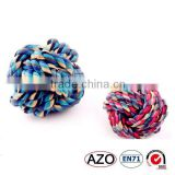 china supplier Muticolour cotton rope ball pet dog chew