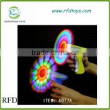 Magic spinning gun flashing windmills electric gun