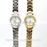 Wholesale cheap Gold & Silver plating Alloy wristband ladies Fancy watch