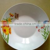 "White Rice Pattern Chinese Porcelain Bowls Melamine 8"" dia x 2.1""H footed salad bowl"