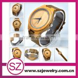 Wholesale Fashion Bamboo Watch Custom Logo We Wood Wrist Watch Cheap Handmade Leather Strap 2016 Women Wooden Watches wooden                                                                         Quality Choice