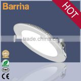High quality CRI>80 aluminum led light panel, 9W round & square pure white led panel light