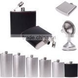 10 oz Stainless Steel Hip flask for Whiskey Liquor Alcohol Cap + Funnel/ Stainless steel hip flask gift set