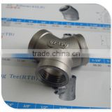 "stainless steel threaded pipe fittings,Y Type Tee,1/2"" G Female"