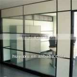clear glass partition wall, aluminum fixed office partitions ,glass and aluminum frame fixed wall